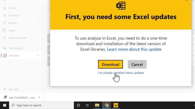 Power BI MCSA Certification Training Tips – Part 13: Analyze in Excel